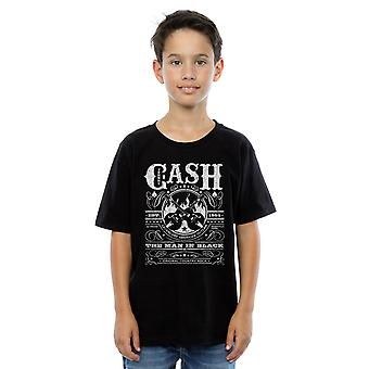 Johnny Cash drenge whisky etiket T-Shirt