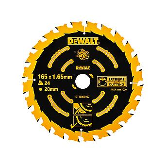 DEWALT Dt10300 Extreme Framing circulaire zag Blade 165 X 20 X 24T