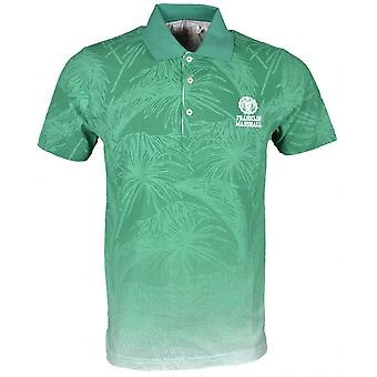 Franklin & Marshall Mf144 fiore stampa Polo verde brillante