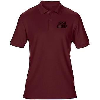 Irish Guards Text Embroidered Logo - Official Mens Polo Shirt