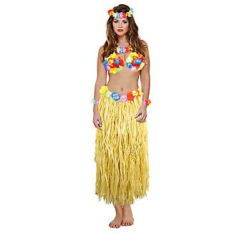 Dames adultes Hawaiian Party Girl 5 pièces de costumes Déguisements – unique taille