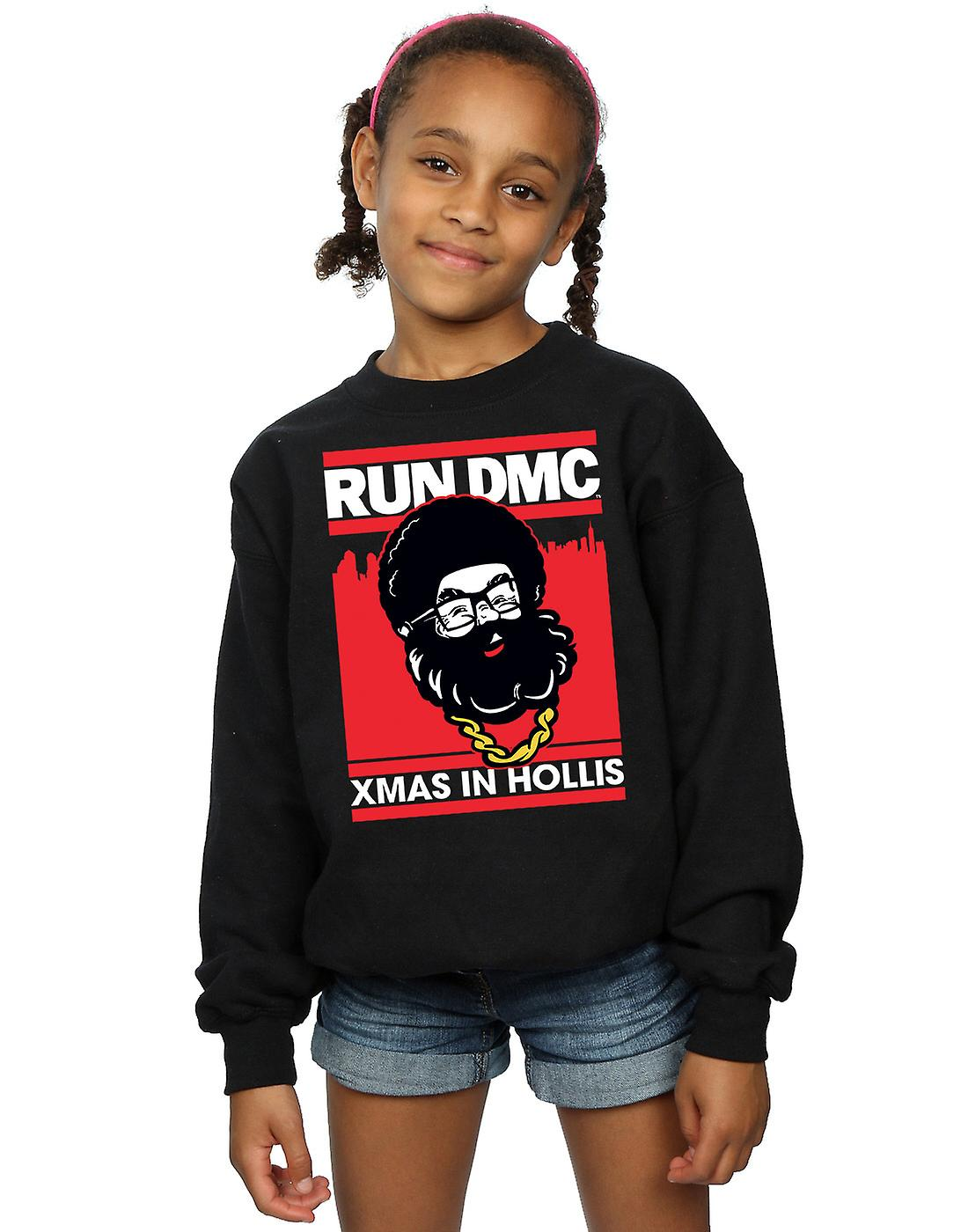 Run DMC Girls Santa Christmas Sweatshirt
