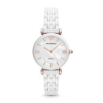 Armani Watches Ar1486 Rose Gold & White Ceramic Ladies Watch
