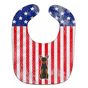 Carolines Treasures  BB3023BIB Patriotic USA Manchester Terrier Baby Bib
