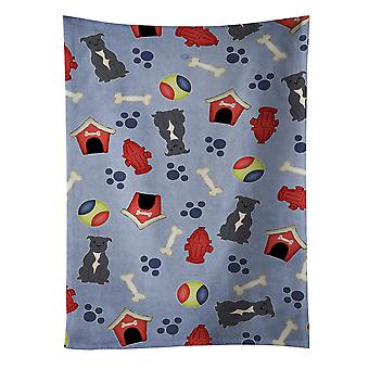 Dog House Collection Staffordshire Bull Terrier Blue Kitchen Towel