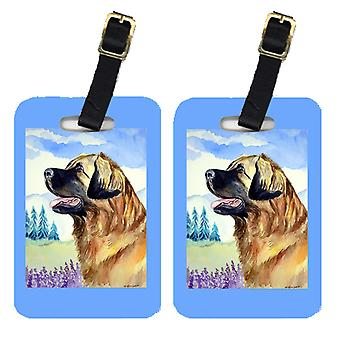 Carolines Treasures  7056BT Pair of 2 Leonberger Luggage Tags