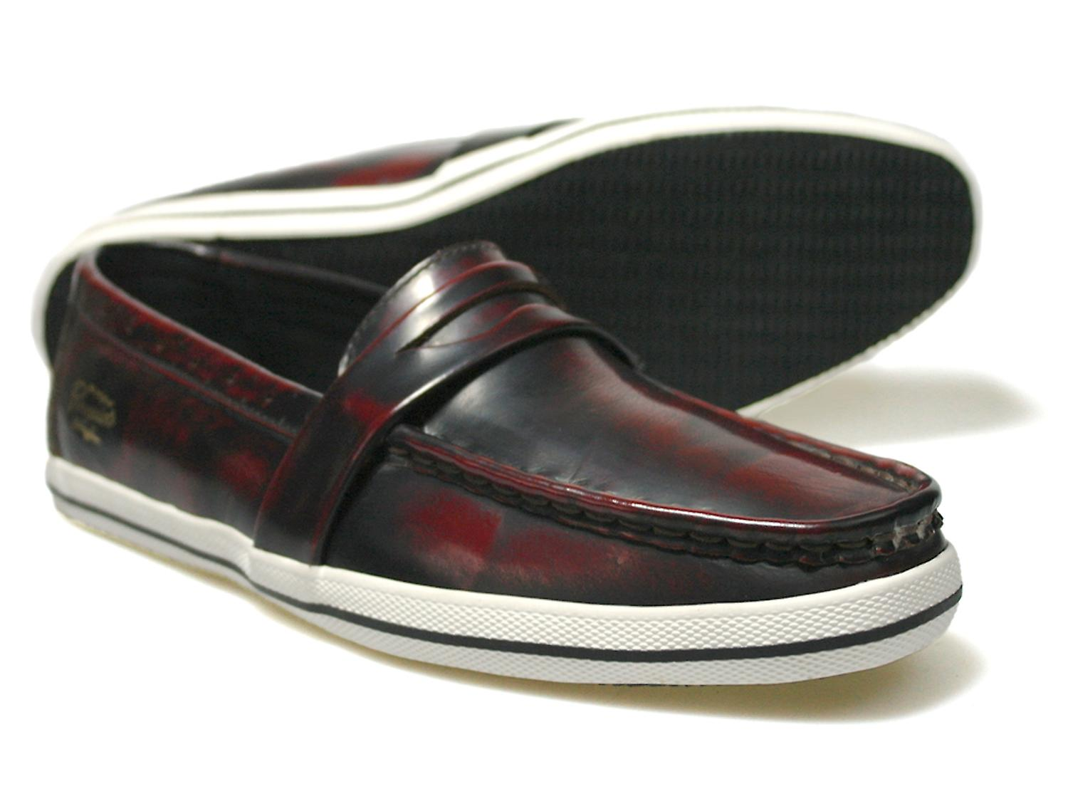 Burgundy Penguin Loafers Casual Low Rufus Top qTWTaBOv