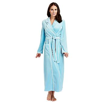 Feraud 3883035-10011 Frauen Lagune blauer Baumwolle Bademantel Loungewear Bad Morgenmantel