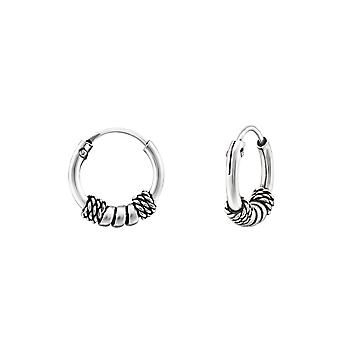 10mm Bali - 925 argent Sterling oreille Hoops