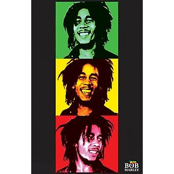 Luce nera - Bob Marley - velluto Poster Poster Print
