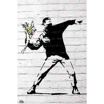 Blume-Bomber - Banksy Plakat Poster drucken