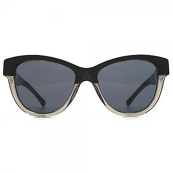Burberry Two Tone Cateye Sunglasses In Black On Grey