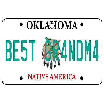 Oklahoma - Best Grandma License Plate Car Air Freshener