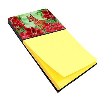 Carolines Treasures  CK1304SN Miniature Pinscher Poinsettas Sticky Note Holder