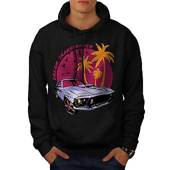 America Muscle Car Men BlackHoodie | Wellcoda