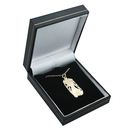 9ct Gold 33x17mm Scorpio Zodiac Pendant with a belcher Chain 16 inches Only Suitable for Children