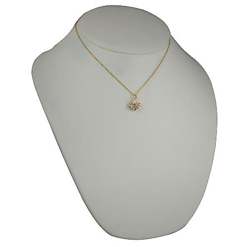 9ct Gold 13x15mm Yoga Position Pendant with Cable chain