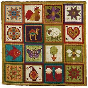Petit patchwork de canevas pour broderie