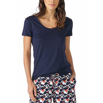 Mey 16824-408 Night2Day Nacht Blau einfarbig Pyjama Pyjama Tank Top Frauen