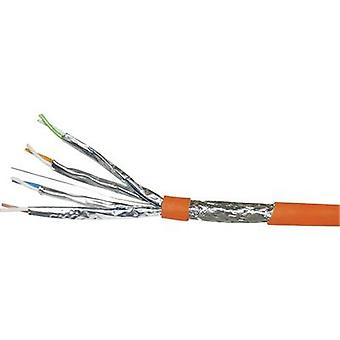 Network cable CAT 7a S/FTP 4 x 2 x 0.25 mm² Orange