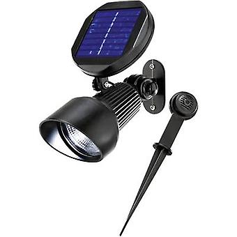 Solar garden spotlight LED Cold white Esotec Spotlight 102138 Black