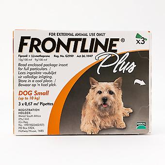 Frontline Plus For Small Dogs under 22lbs (10kg), 3 Pack