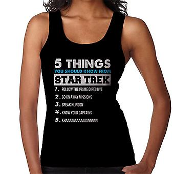 Five Things You Should Know From Star Trek Women's Vest