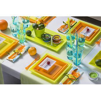 Party Geschirr Set für 6 Gäste 72-teilig Partypaket Sommerdesign Partypaket