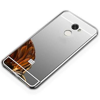 Miroir / miroir en aluminium pare-chocs 2 pièces avec couvercle argent pour romaric Redmi 5 plus sac couverture