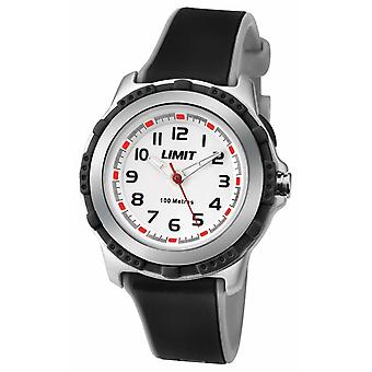 Limit Kids Active Black Resin Strap White Dial 5597.24 Watch