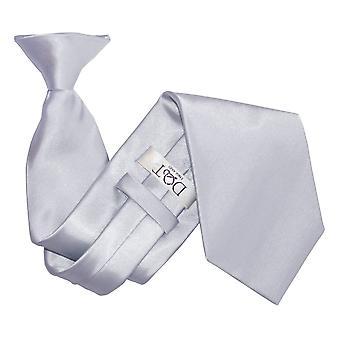 Sølv Plain Satin klippet på slips