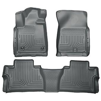Husky Liners Front & 2nd Seat Floor Liners Fits 14-18 Tundra Double Cab