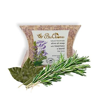Handmade Olive oil soap against hair loss - Rosemary and Laurel 90gr
