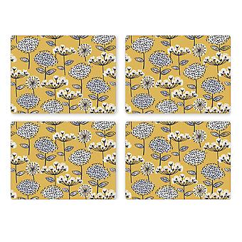 Cooksmart Pack of 4 Retro Meadow Placemats