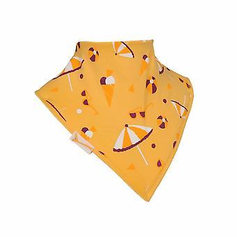 Jaune fun beach bavoir bandana