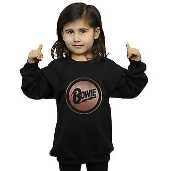 David Bowie Girls Rose Gold Circle Sweatshirt