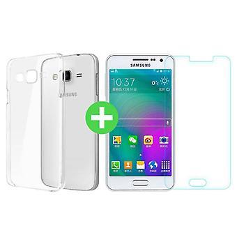 Stuff Certified ® Samsung Galaxy Prime J5 2016 Transparent TPU Case + Screen Protector Tempered Glass