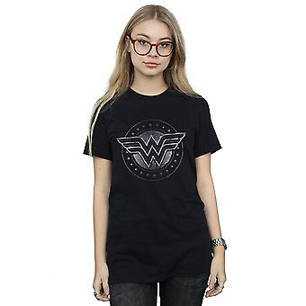 DC Comics Women's Wonder Woman Star Shield Boyfriend Fit T-Shirt