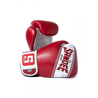 Sandee Sport 2 Tone PU Boxing Gloves - Red White