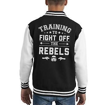 Original Stormtrooper Training To Fight Off Rebels Kid's Varsity Jacket