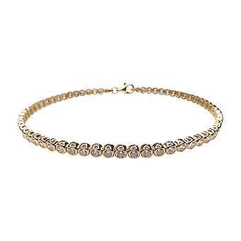 14 k gold cubic zirconia bracelet