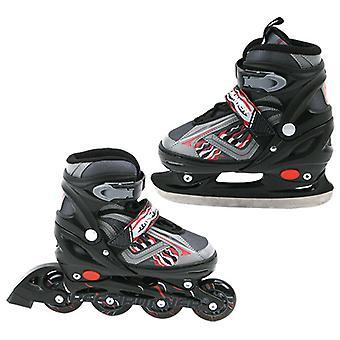 ABEC 7 Inline Skate/Skating 2 in 1 schwarz Größe 31-34