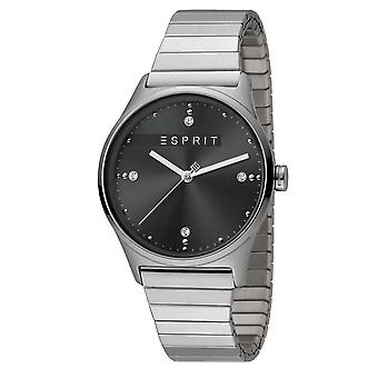 ESPRIT Ladies Womans Watch Analogue VinRose Black Silver Polish Quartz