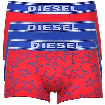 Diesel 3-Pack Boxer Trunk UMBX-Shawn, Red/Blue/Stars, Large