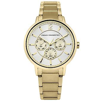 French Connection Womens Multi dial Quartz Watch with Stainless Steel Strap FC1300GM