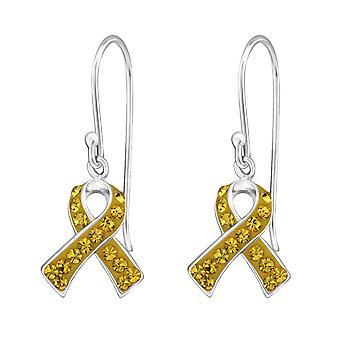Ribbon - 925 Sterling Silver Crystal Earrings - W18996X
