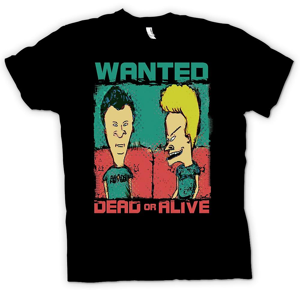 Womens T-shirt - Beavid en Butthead - Wanted Dead Or Alive