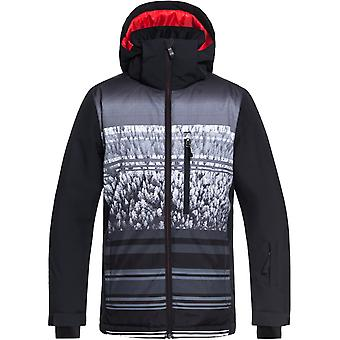 Quiksilver Black-Alpin Mission Engineered Kids Snowboarding Jacket