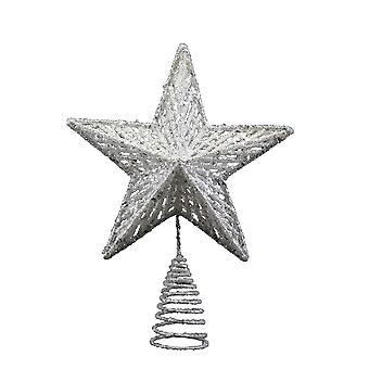 Gisela Graham Silver Christmas Tree Topper