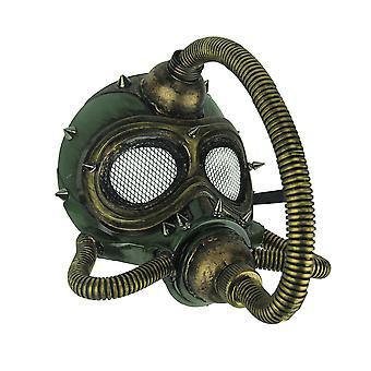 Metallic Spiked Steampunk Submarine Gas Mask